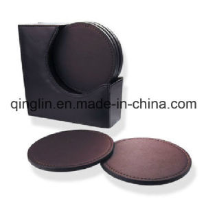 Factory Wholesale Custom Round Brown Beer Mat (QL-BD-0009) pictures & photos