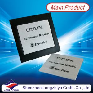 Etching and Paint Filling Aluminum Metal Plate with Lacquer Plaque pictures & photos
