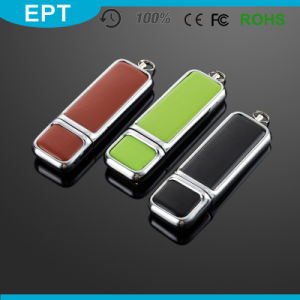 Stick Shape Colorful Emboss Logo Leather USB Flash Drive (TL008) pictures & photos