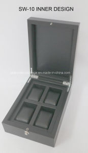 Deep Gray Jewellry Box Professional Design Wooden Watch Box pictures & photos