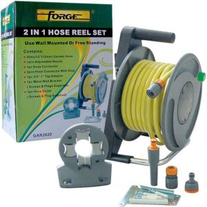 High Quality Dural Purpose 2 in 1 Garden Water Hose Reel Set pictures & photos