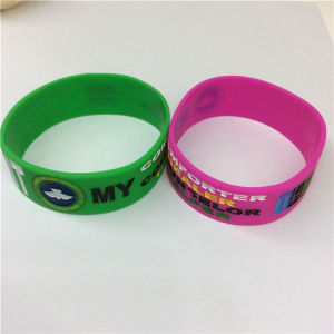 Customize Debossed Colorful Printed Silicone Wristbands pictures & photos