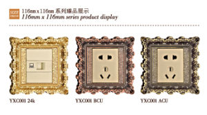 Brass Wall Power Switch Socket with Antique Patterns pictures & photos