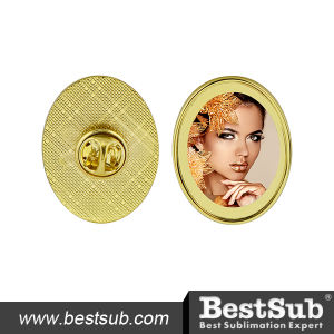 Bestsub Sublimation Metal Badge (Oval) (MXZ2532T) pictures & photos