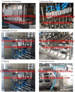 Jelly Beverage Cup Filling and Sealing Machine (BG60A) pictures & photos
