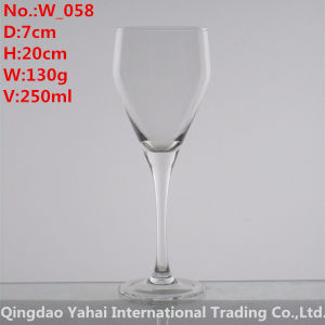 250ml Clear Colored Wine Glass pictures & photos