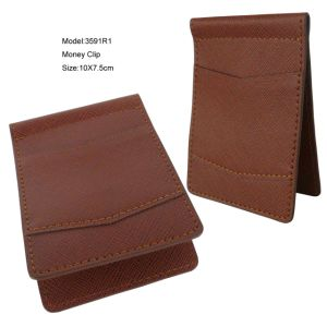 Leather Money Clip Wallet Manufacture (3591) pictures & photos