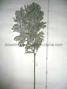 Artificial Frosted Pine Leaves Winter Decoration Christmas Flower (SHL15-F510)