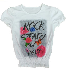 Fashion Colorful Kids Girl Apparel with Rhinestone in Children′s Clothes Sgt-068 pictures & photos