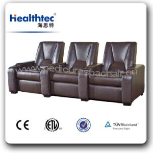 Headrest and Cup Holder Electronic Reclining Cinema Chair Theatre Chair (T019) pictures & photos