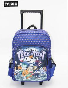 Cartoon Printing Trolley Backpack School Bag for Children