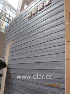 China fiber cement board wood grain decorative siding for Wood grain siding panels