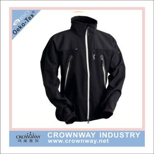 Men Outer Wear Waterproof Softshell Jacket with Stand Collar pictures & photos