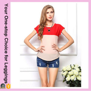 2016 Women Hottest Plus Size Cool Loose Chiffon T-Shirt pictures & photos