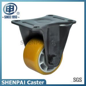 """2.5""""Aluminium Core PU Threaded Stem Swivel Locking Caster pictures & photos"""