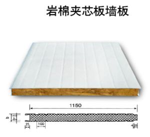 Fireproof Wall Rockwool M2 Price Sandwich Panel pictures & photos