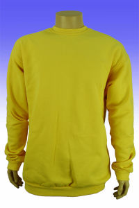 Factory Good Quality Plain Yellow Round Neck Sweater pictures & photos