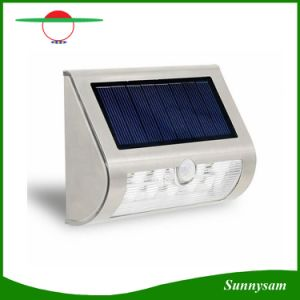 Stainless Steel Shell Solar Power PIR Motion Sensor 9 LED Wall Light Wireless Ultra Bright Spotlight Garden Lamp pictures & photos