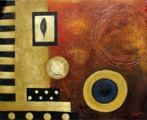 Abstract Hand Painted Oil Painting on Canvas (LH-263000) pictures & photos