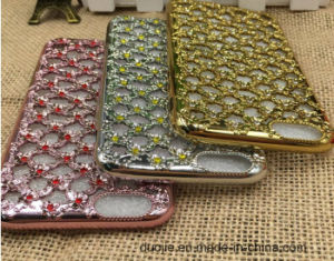 Electroplating Hollowed-out Diamond TPU Mobile Phone Case for iPhone 7 Phone Case (XSDD-008) pictures & photos
