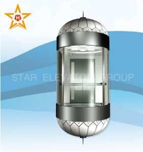 Panoramic Elevator (semicircle type, laminated glass) Xr-G11