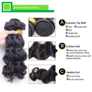 Natural Black Brazilian Virgin Accessories Human Hair pictures & photos