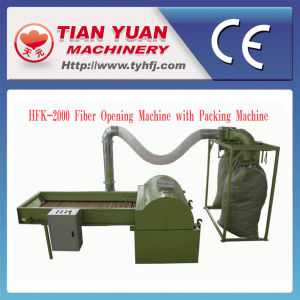 Nonwoven Microfiber Opening Machine with Bale Packing Machine pictures & photos