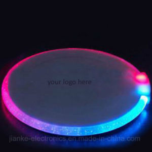 Plastic Lighting LED Beer Coaster with Logo Print (4038)