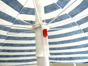 Stripe Umbrella, Polyesterblue Red Stripe Beach Umbrella pictures & photos