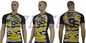 American Football Uniform Capless Sleeve Football Shirt pictures & photos