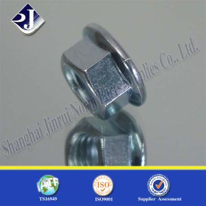 Hex Flange Nut with Blue Zinc 8 pictures & photos