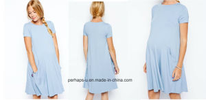 Loose and Soft Womens Maternity Dress pictures & photos