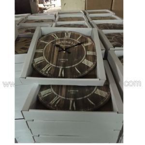 Customed Promotional Wooden Clock, Wholesale Antique Clock, Wall Hanging Clocks pictures & photos