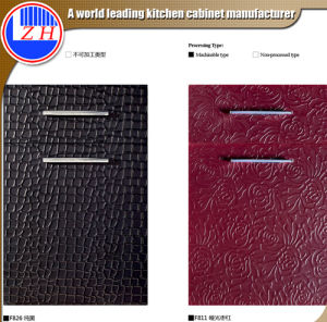 New Fashion Pattern Embossed Kitchen Cabinet Door (customized) pictures & photos