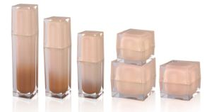 Acrylic Square Jar and Lotion Bottles for Cosmetic Packaging pictures & photos