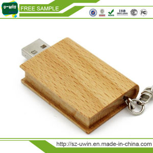 OEM 4GB Wooden Book USB Flash Disk pictures & photos