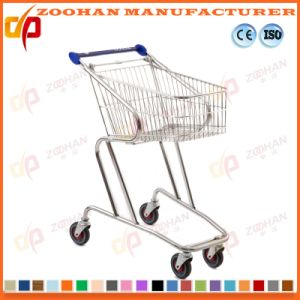 Chrome Zinc Metal Supermarket Shopping Trolley Cart China Manufacturer (Zht185) pictures & photos