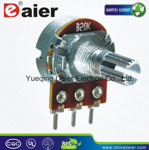 Horizontal Type B20k Single Turn Volume Control Knob Potentiometer pictures & photos