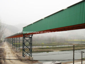Belt Conveyor System with Rain Cover for Mining Transportation