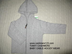 Cashmere Baby Cable Hoody Wear pictures & photos