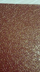 Classical Flower Emboss PVC Leather for Lady′s Handbag! pictures & photos