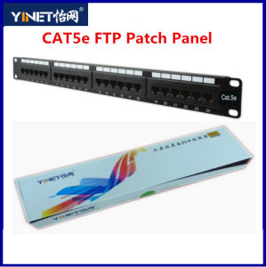 Category5e FTP Pactch Panel Cat5e Network Distribution Frame pictures & photos