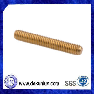 Customized Solid Brass All Thread Threaded Rod Bar Studs
