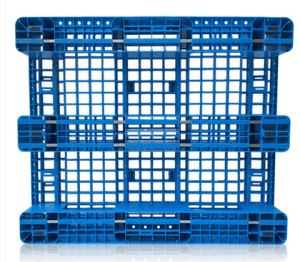 Warehouse Products HDPE Plastic Pallet 1200*1000*155mm Heavy Duty 1.5t 8 Steel Shlef Racking Plastic Pallet for with 3 Runners pictures & photos