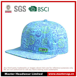 Polyester/Cotton Canvas Soft Panel Snap Back Cap Hat pictures & photos