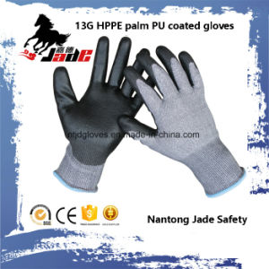 13G Black PU Coated Industrial Cut Glove Level Grade 3 and 5 pictures & photos