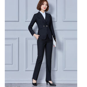 Fashion Women Office Uniform Business Suits of Wool pictures & photos