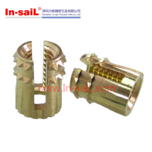 Cl Cold Pressing Preparation Slotted-Thread Insert Nut pictures & photos