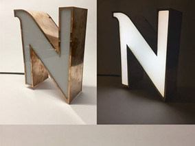 High Quality 3 Dimensional Stainless Steel Doorplate Cut Fabricated Channel Letters pictures & photos