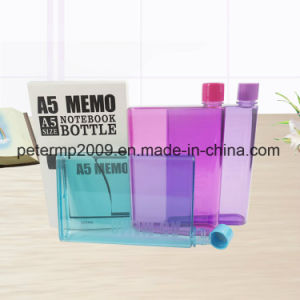 BPA Free Plastic A5 Memo Water Bottle (11032) pictures & photos